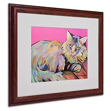 Pat Saunders 'Catatonic' Matted Framed Art - 16x20 Inches - Wood Frame