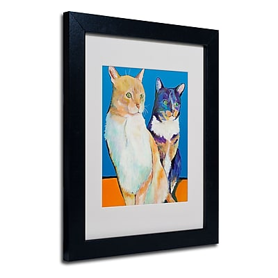 Trademark Fine Art Pat Saunders 'Dos Amores' Matted Art Black Frame 11x14 Inches