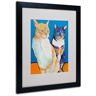 Trademark Fine Art Pat Saunders 'Dos Amores' Matted Art Black Frame 16x20 Inches