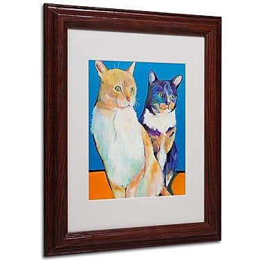 Pat Saunders 'Dos Amores' Matted Framed Art - 11x14 Inches - Wood Frame