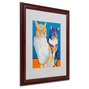 Pat Saunders 'Dos Amores' Matted Framed Art - 16x20 Inches - Wood Frame