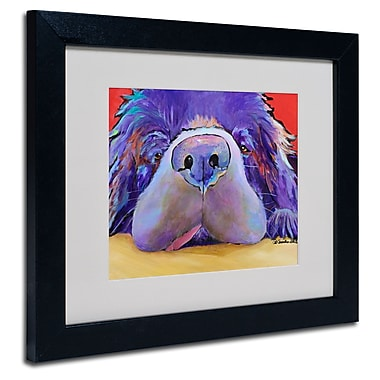 Trademark Fine Art Pat Saunders 'Graysea' Matted Art Black Frame 11x14 Inches
