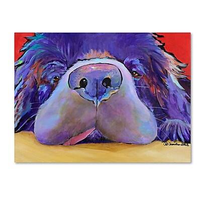 Trademark Fine Art Pat Saunders 'Graysea' Canvas Art 14x19 Inches
