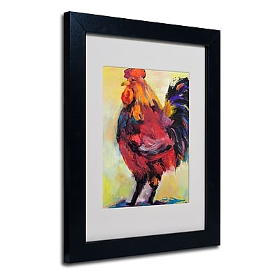Trademark Fine Art Pat Saunders 'In Command' Matted Art Black Frame 11x14 Inches