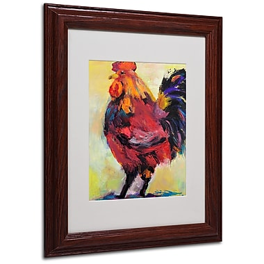 Pat Saunders 'In Command' Matted Framed Art - 11x14 Inches - Wood Frame