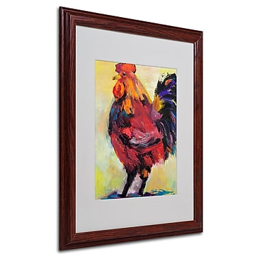 Pat Saunders 'In Command' Matted Framed Art - 16x20 Inches - Wood Frame