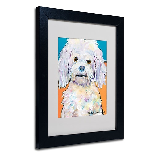 Trademark Fine Art Pat Saunders 'Lulu' Matted Art Black Frame 11x14 Inches