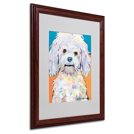 Pat Saunders 'Lulu' Matted Framed Art - 16x20 Inches - Wood Frame