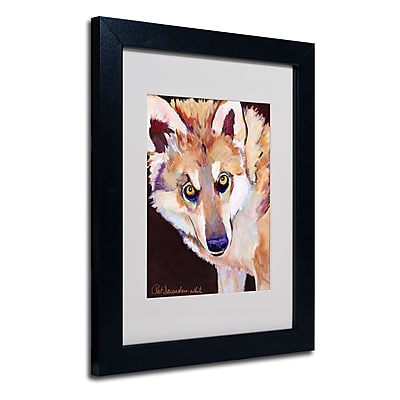 Trademark Fine Art Pat Saunders 'Night Eyes' Matted Art Black Frame 11x14 Inches