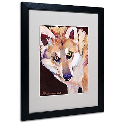 Trademark Fine Art Pat Saunders 'Night Eyes' Matted Art Black Frame 16x20 Inches