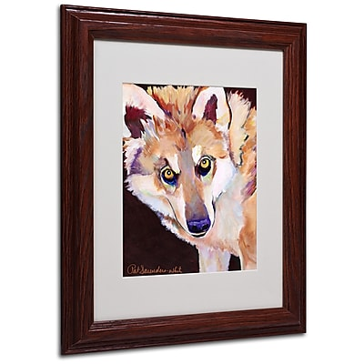 Pat Saunders 'Night Eyes' Matted Framed Art - 11x14 Inches - Wood Frame