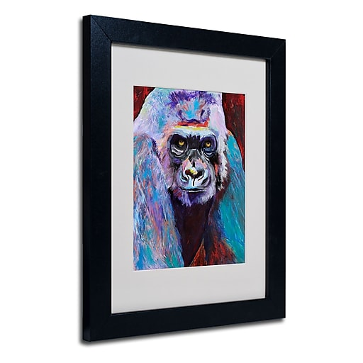 Trademark Fine Art Pat Saunders 'Thor' Matted Art Black Frame 11x14 Inches