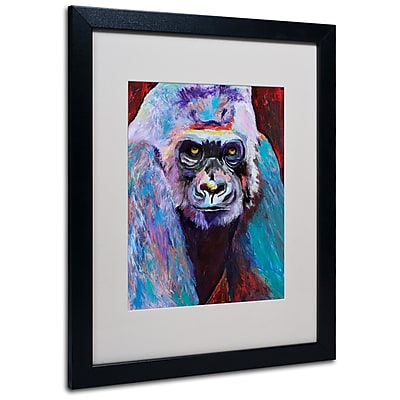 Trademark Fine Art Pat Saunders 'Thor' Matted Art Black Frame 16x20 Inches