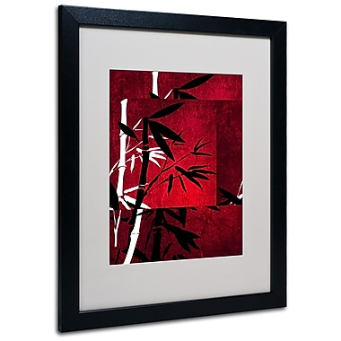 Trademark Fine Art Philippe Sainte-Laudy 'Bamboo Style' Matted Art Black Frame 16x20 Inches