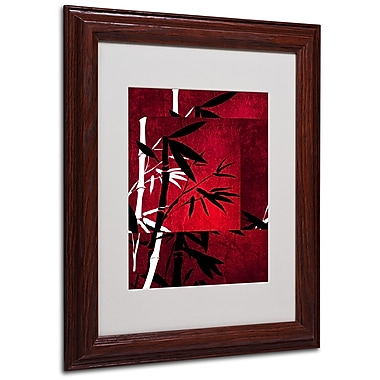 Philippe Sainte-Laudy 'Bamboo Style' Matted Framed Art - 11x14 Inches - Wood Frame