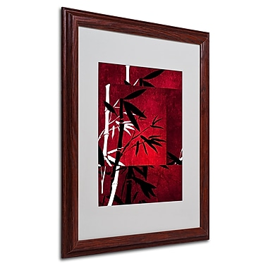 Philippe Sainte-Laudy 'Bamboo Style' Matted Framed Art - 16x20 Inches - Wood Frame