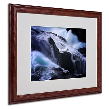Philippe Sainte-Laudy 'Liquide Illusion' Matted Framed Art - 16x20 Inches - Wood Frame
