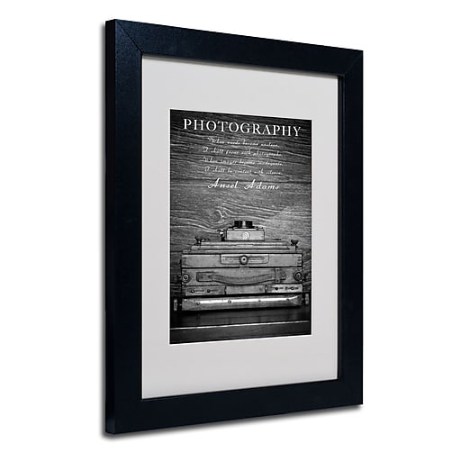 Trademark Fine Art Philippe Sainte-Laudy 'Photography B&W' Matted Art Black Frame 11x14 Inches