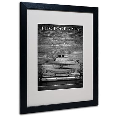 Trademark Fine Art Philippe Sainte-Laudy 'Photography B&W' Matted Art Black Frame 16x20 Inches