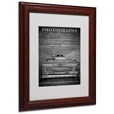 Philippe Sainte-Laudy 'Photography B&W' Matted Framed Art - 11x14 Inches - Wood Frame