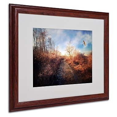 Philippe Sainte-Laudy 'Blast of Wind' Matted Framed Art - 16x20 Inches - Wood Frame