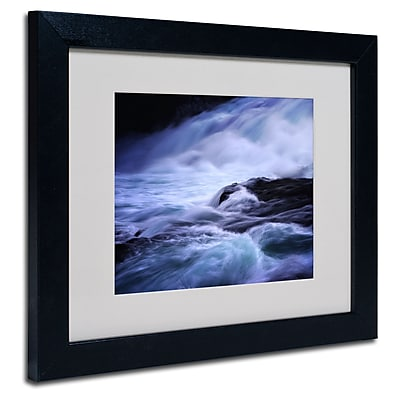 Trademark Fine Art Philippe Sainte-Laudy 'Blue Stream' Matted Art Black Frame 11x14 Inches
