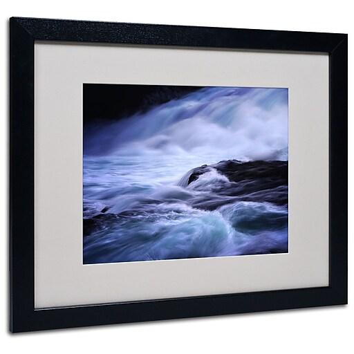 Trademark Fine Art Philippe Sainte-Laudy 'Blue Stream' Matted Art Black Frame 16x20 Inches