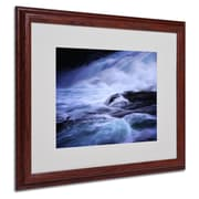 Philippe Sainte-Laudy 'Blue Stream' Matted Framed Art - 16x20 Inches - Wood Frame