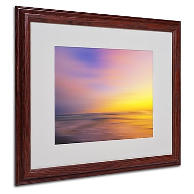 Philippe Sainte-Laudy 'Metallic Sunset' Matted Framed Art - 16x20 Inches - Wood Frame