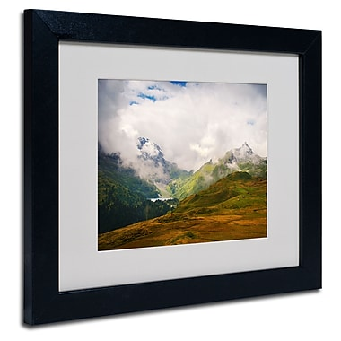 Trademark Fine Art Philippe Sainte-Laudy 'Peaceful Switzerland' Matted Black Frame 11x14 Inches
