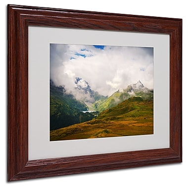 Philippe Sainte-Laudy 'Peaceful Switzerland' Matted Framed - 11x14 Inches - Wood Frame