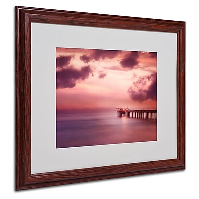 Philippe Sainte-Laudy 'Rose Bonbon' Matted Framed Art - 16x20 Inches - Wood Frame