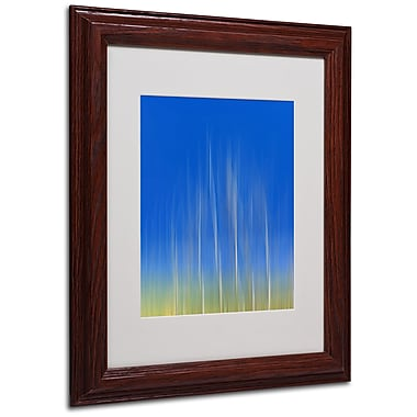 Philippe Sainte-Laudy 'Vertical Activity' Matted Framed Art - 11x14 Inches - Wood Frame
