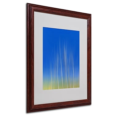 Philippe Sainte-Laudy 'Vertical Activity' Matted Framed Art - 16x20 Inches - Wood Frame