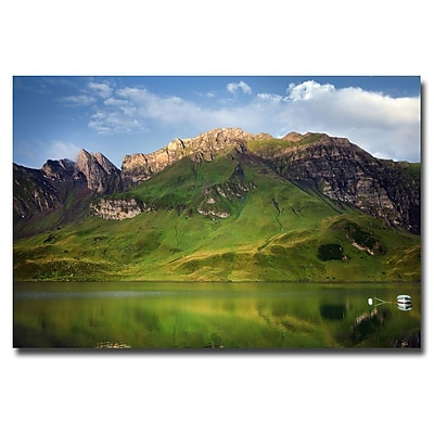 Trademark Fine Art Philippe Sainte Laudy 'Green Mirror' Canvas Art 22x32 Inches