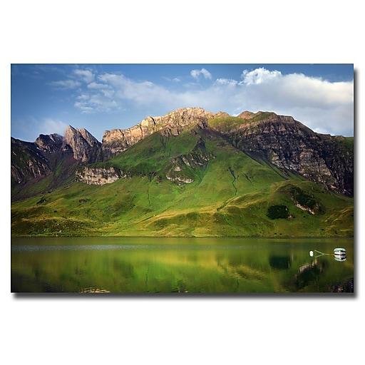 Trademark Fine Art Philippe Sainte Laudy 'Green Mirror' Canvas Art 30x47 Inches