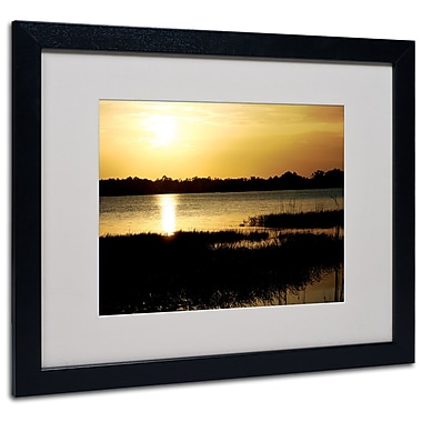 Trademark Fine Art Patty Tuggle 'End of the Day' Matted Art Black Frame 16x20 Inches