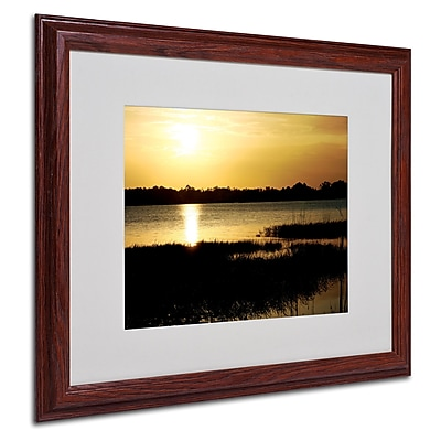 Patty Tuggle 'End of the Day' Matted Framed Art - 16x20 Inches - Wood Frame