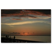 Trademark Fine Art Bay Sunset by Patty Tuggle Ready To Hang Art