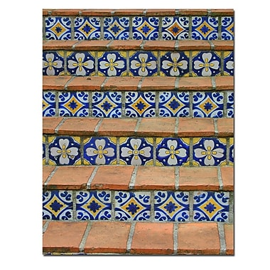 Trademark Fine Art Blue and Yellow Tiles by Patty Tuggle-Canvas Art