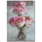 Trademark Fine Art Patty Tuggle 'Shabby Roses' Canvas Art