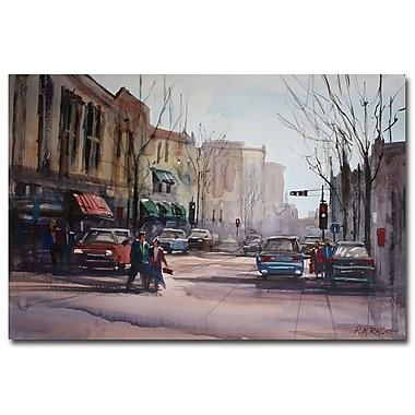 Trademark Fine Art Ryan Radke 'Another Day in Fond du Lac' Canvas Art 22x32 Inches