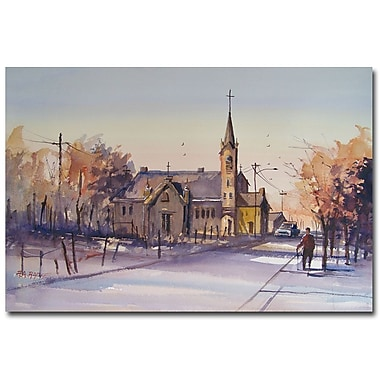 Trademark Fine Art Ryan Radke 'Autumn Stroll in Kaukauna' Canvas Art 16x24 Inches