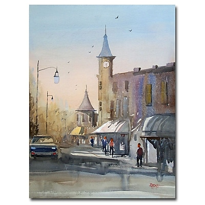 Trademark Fine Art Ryan Radke 'Berlin Clock Tower' Canvas Art 35x47 Inches