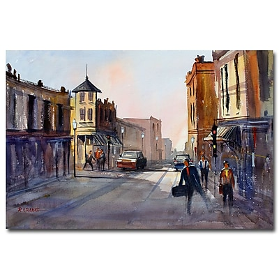 Trademark Fine Art Ryan Radke 'Business in Oshkosh' Canvas Art 22x32 Inches