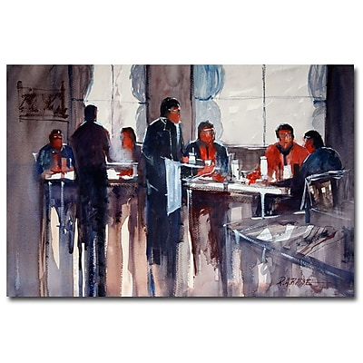 Trademark Fine Art Ryan Radke 'Business Lunch' Canvas Art 16x24 Inches