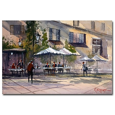 Trademark Fine Art Ryan Radke 'Dining Alfresco' Canvas Art 30x47 Inches