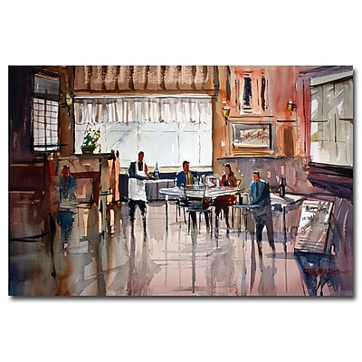 Trademark Fine Art Ryan Radke 'Dinner for Two' Canvas Art 16x24 Inches