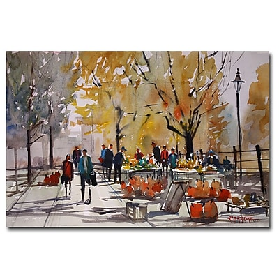 Trademark Fine Art Ryan Radke 'Farm Market-Menasha' Canvas Art 16x24 Inches