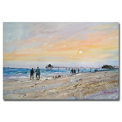 Trademark Fine Art Ryan Radke 'Florida Sunset' Canvas Art 30x47 Inches